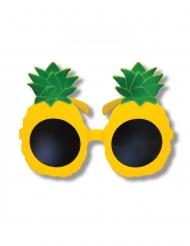 Ananas-Brille für Erwachsene gelb-grün