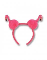 Flamingo Haarreif mit Bommeln für Erwachsene pink
