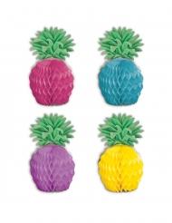 8 Mini Ananas Tischaufsteller bunt 12 cm