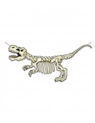 Dinosaurier-Skelett Wanddeko Pappkarton 71 x 152 cm