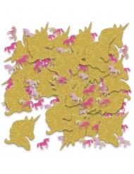 Einhorn-Konfetti Tischdekoration rosa-gold 70 g
