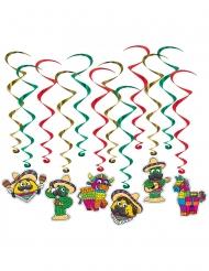 12 Hänge-Spiralen Mexiko 43-86 cm
