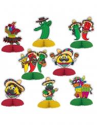 8 Mini Tischaufsteller Mexiko 10 cm