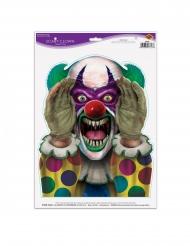 Killerclown-Sticker Halloween Aufkleber Deko 30 x 43 cm