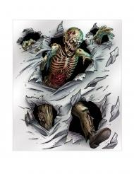 Zombie-Wandposter für Halloween Raumdekoration weiss-bunt 1,52 x 1,82 cm