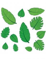 Tropische Blätter Tischdekoration 12 Stück grün 10-30cm