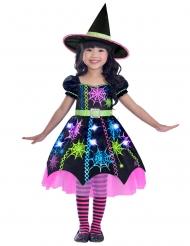 Kleine Spinnenhexe Halloween-Kostüm für Mädchen bunt