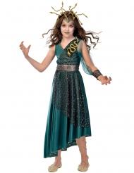 Mystisches Medusa-Kostüm für Kinder Halloween-Verkleidung Petrol-gold