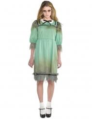 Geistermädchen Hotelbesucherin Kostüm für Damen Halloween türkis