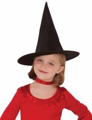 Kinder-Hexenhut für Mädchen Halloween-Zubehör schwarz