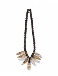 Voodoo-Halskette Accessoire für Halloween schwarz-braun