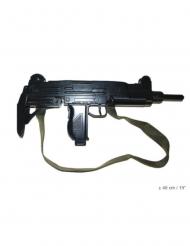 Spielzeugwaffe aus Kunststoff Maschinengewehr schwarz 48cm