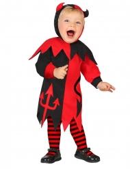 Teuflisches Baby-Kostüm für Halloween schwarz-rot