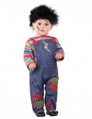 Kleine Horror-Puppe Kostüm für Kleinkinder Halloween bunt