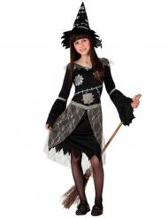 Stilvollen Hexenkostüm für Mädchen Halloween-Verkleidung schwarz-grau