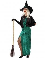 Hexe des Westens Halloween-Damenkostüm grün-schwarz