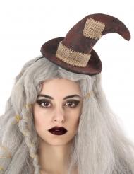 Haarreif mit Hexenhut Kostüm-Accessoire für Erwachsene braun