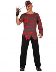 Serienmörder-Verkleidung Halloween-Kostüm schwarz-rot