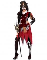 Voodoo-Priesterin Damenkostüm für Halloween bunt