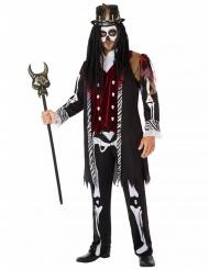 Voodoo-Priester-Herrenkostüm schwarz