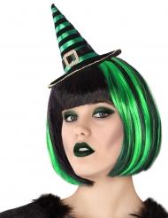 Stirnband mit Minizylinder für Erwachsene Kostüm-Accessoire schwarz-grün