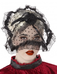 Gothic-Kopfschmuck mit Schleier Kostüm-Accessoire Schwarz