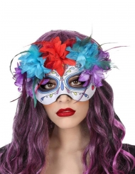 Tag der Toten-Gesichtsmaske Halloween-Zubehör für Damen bunt