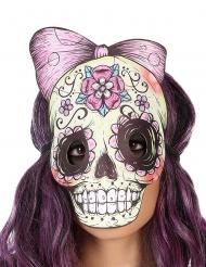 Tag der Toten Skelett-Maske Lederimitat Filzstift