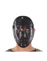 Mörderische Hockey Maske für Halloween schwarz