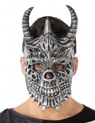 Skelett Drachen-Maske für Erwachsene Kostümzubehör grau