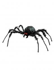 Übergroße Spinne für Halloween Raumdekoration schwarz 43 x 46 cm