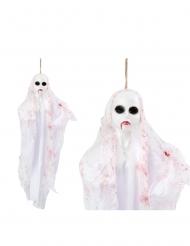 Geisterpuppe zum Aufhängen Halloween-Dekoration weiss-rot 50cm