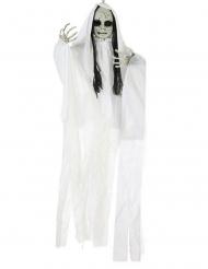 Zombie-Mädchen Geister Hängedekoration weiss 100 x 70 cm