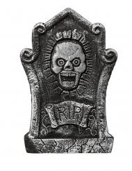 Totenschädel-Grabstein Halloween-Dekoration schwarz-grau 44x30cm