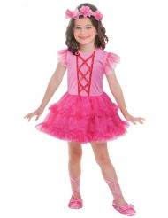 Bezaubernde Ballerina Mädchenkostüm für Kinder pink