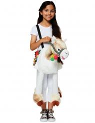 Lama-Kinderkostüm Huckepack-Verkleidung Cary Me bunt