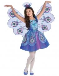 Pfauenkostüm für Mädchen Karnevals-Verkleidung lila-blau