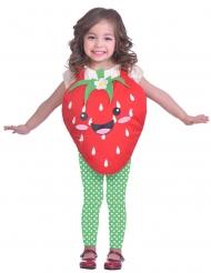 Zuckersüßes Erdbeer-Kostüm für Kinder Karnevals-Kostüm rot-grün