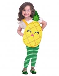 Niedliches Ananas-Kostüm für Mädchen gelb-grün