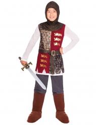 Furchtloses Ritter-Kostüm für Kinder braun-rot-grau