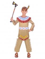 Indianer-Kostüm für Jungen Karnevals-Verkleidung bunt