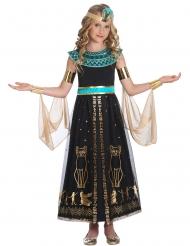 Antikes Ägypterin-Kostüm mit Ornamenten für Mädchen schwarz-gold-türkis