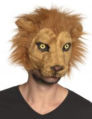 Wilde Löwen-Maske Kostüm-Zubehör für Fasching braun
