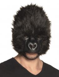 Tierische Gorilla-Maske für Erwachsene Kostüm-Zubehör schwarz