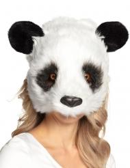 Kuschelige Panda-Maske für Erwachsene schwarz-weiss
