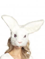 Süße Hasen-Maske für Erwachsene Kostüm-Zubehör weiss
