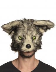 Gefährliche Werwolfmaske für Erwachsene grau-beige