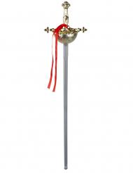 Musketier-Schwert Spielzeug-Waffe Kostümzubehör gold-silber