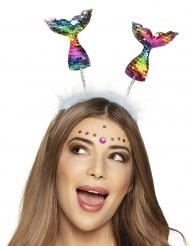 Haarreif für Meerjungfrauen Kostüm-Accessoire bunt