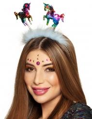 Einhorn-Haarreif zauberhaftes-Accessoire für Karneval bunt